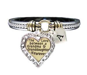 Custom-Love-Between-Grandma-amp-Granddaughter-is-Forever-Silver-Bracelet-Jewelry