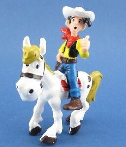 Bully-Lucky-Luke-mit-langer-Zigarette-Pferd-Jolly-Jumper-Comic-Figuren-1974