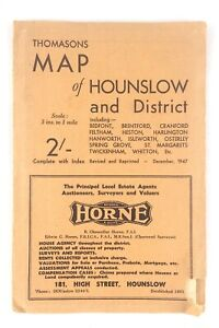 Thomasons-Map-Hounslow-And-District-City-Directory-Auctioneers-Estate-Agent-K803