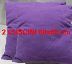 Das Bild Wird Geladen 2 Kissen Moebel 60x60 Wohnzimmer Sofa Haus Violett