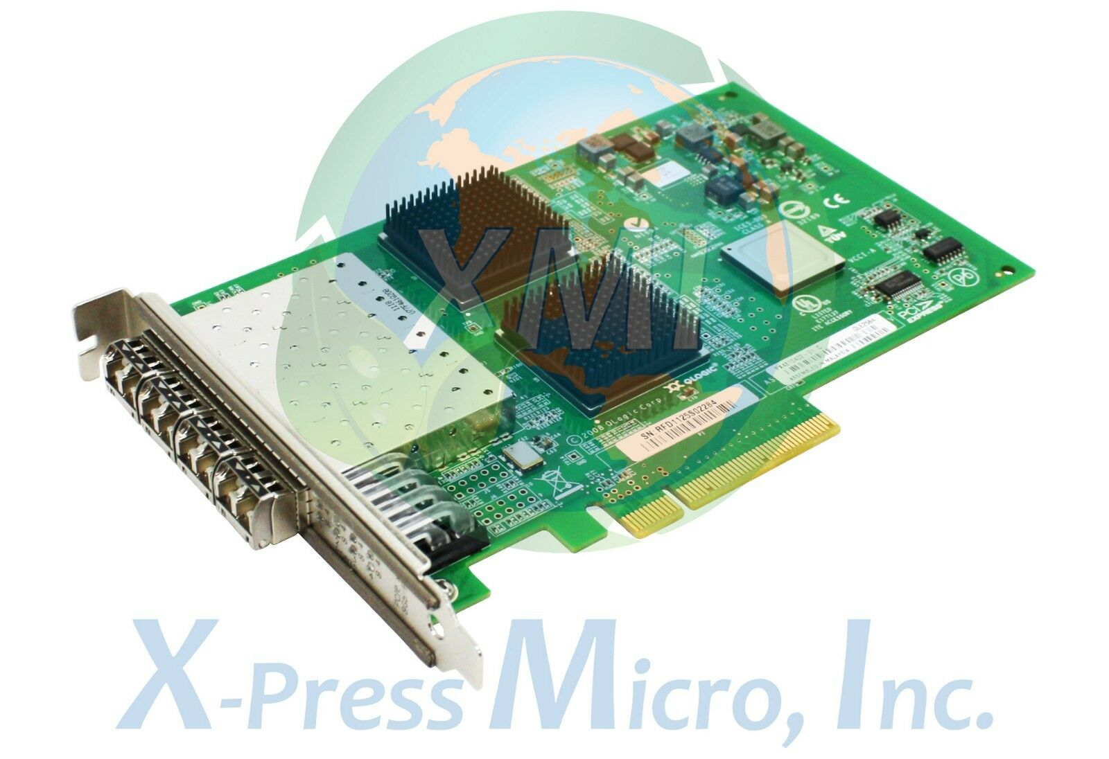QLogic 4 Port 8GB Fibre Channel HBA Host Bus Adapter QLE2564 With SFP's X 4