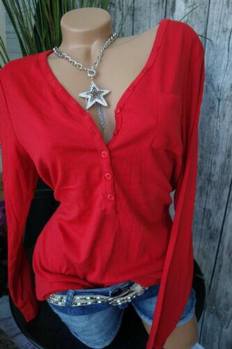 Boutonnage Rouge Nouveau 917 Sheego Shirt Manches Longues Taille 40//42 à 56//58 M