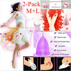 2-Pack-Reusable-Silicone-Menstrual-Cup-Period-Soft-Medical-Diva-Cups-M-L