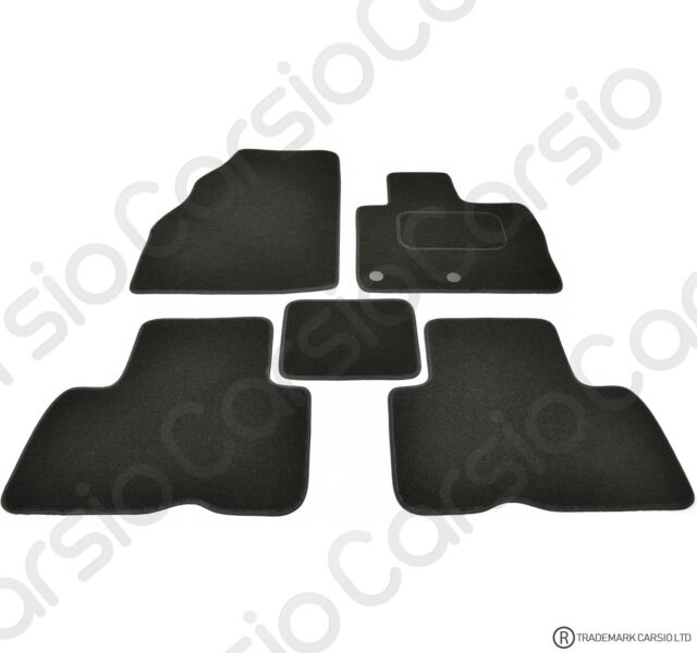 Onwards 3mm 2pc Set Carsio Black Rubber Tailored Car Floor Mats To fit Renault Kangoo Van 2009