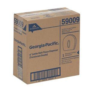 "Georgia-Pacific Translucent Smoke Jumbo Jr. 9"" Bathroom Toilet Tissue Dispenser"