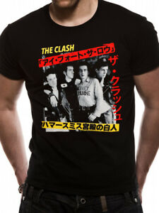 The-Clash-039-Live-in-Japan-Kanji-039-T-Shirt-Official-Merchandise-Punk
