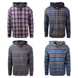 Cherokee Men's Tottus Camisa Plaid Hooded L/S Flannel Shirt