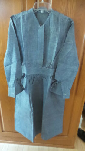 Antique NURSE DRESS UNIFORM Blue Chambray, Student