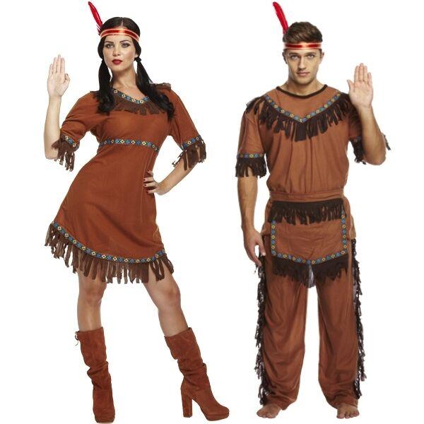Erwachsene Herren & Damen HIS & & & Hers Indianer rot Indianer Kostüm | Verkauf Online-Shop  | Feinbearbeitung  | Jeder beschriebene Artikel ist verfügbar  b8199a