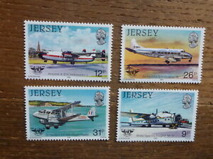 JERSEY-1984-AIRPLANES-SET-4-MINT-STAMPS