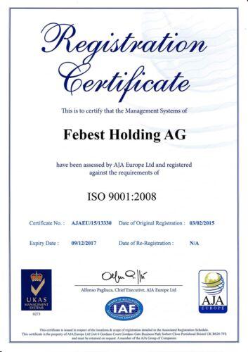 0101-LC90F Genuine Febest PAD KIT DISC BRAKE FRONT 04465-35140