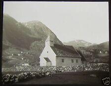 Glass Magic Lantern Slide A CHURCH C1890 PHOTO SOUTH NORWAY