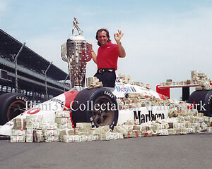 EMERSON FITTIPALDI 1989 INDIANAPOLIS INDY 500 WINNER 8x10 PHOTO
