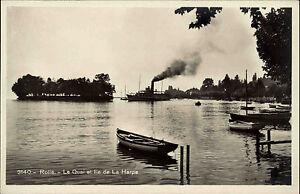 Schiffe-1920-30-Rolle-Le-Quai-de-La-Harpe-Hafen-Harbour-Schiff-Dampfer-alte-AK