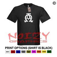 Alpha & Omega 1 Christian Shirt Black T-shirt Greek Religious Verse Jesus