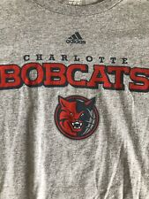 4be44b634378 Charlotte Bobcats NBA Adidas Exclusive Graphic Team Logo T-Shirt SZ Men's XL