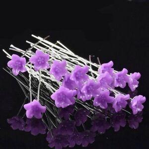 Pince Chignon Pic Barrette Epingle Cheveux Mariage Fleur Lilas X