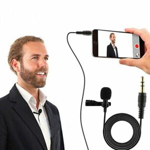 New-Clip-On-Lapel-Microphone-Hands-Free-Wired-Condenser-Mini-Lavalier-Mic-3-5mm