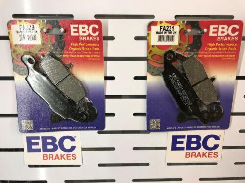 FRONT BRAKE PADS FOR SV650S SUZUKI 1999 TO 2018  EBC FA229//231