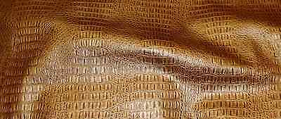 TOPAZ GATOR UPHOLSTERY FAUX LEATHER VINYL FABRIC BY THE YARD