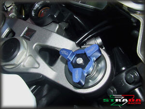 Strada-7-RACING-19mm-fourche-precharge-Ajusteur-Buell-XB12R-2009-Bleu