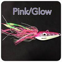 Caivo 3d Mad Dog Jigs Col:pink/glow , Bottom Jigs