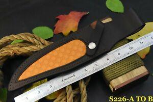 Custom Made 100 % Original Leather Sheath For 12-14 Inch Knives Handmade(S226-