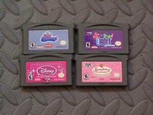 Lot Nintendo Game Boy Advance GBA Games Sky Dancers + EverGirl + 2 more
