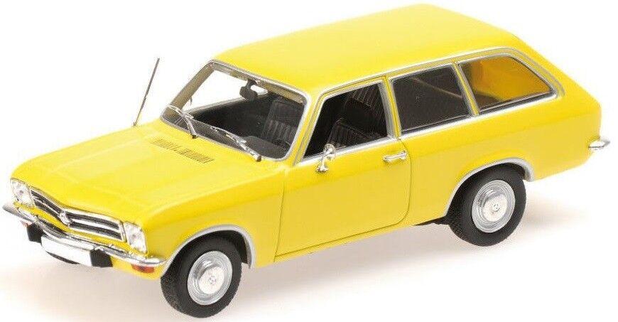 MNC400045811 - Voiture break familiale OPEL Ascona Voyage de 1970 couleur jaune