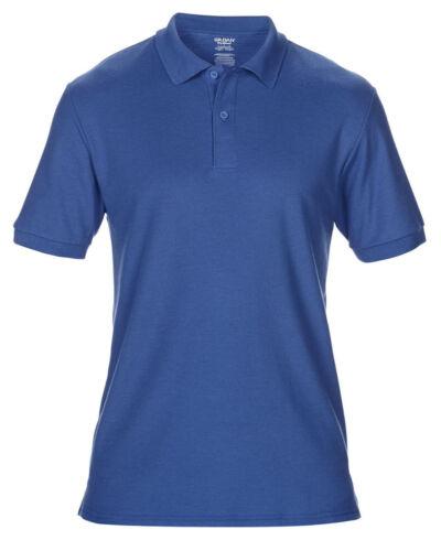 de 17 Colores ropa de trabajo Causal Top S-5XL Gildan Polo Piqué Doble para adultos