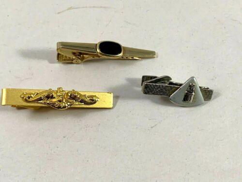 Vintage Speidel Hematite Gladiator Head Tie Clip Used
