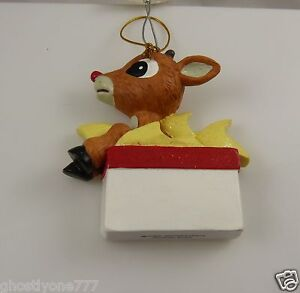 Christmas-ornament-Rudolph-red-nosed-reindeer-in-present