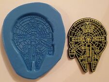 STAR WARS MILLENNIUM FALCON SILICONE MOULD FOR CAKE TOPPERS, CHOCOLATE, CLAY ETC