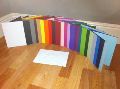 """6/"""" x 6/"""" CARD BLANKS PRE SCORED U CHOOSE COLOUR AND QUANTITY WITHOUT ENVELOPES"""