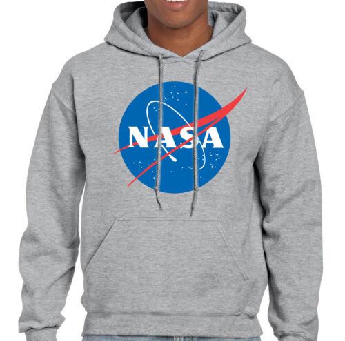 Uomo Geek Secchione Big Bang Theory Felpa con Logo Retro Space Sheldon Nasa
