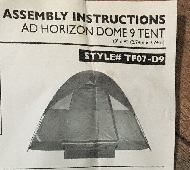 Alpine Design Ad Horizon 9 Dome Tent Sleeps 5 Persons 9 Ft X 9 Ft W Carry Bag For Sale Online