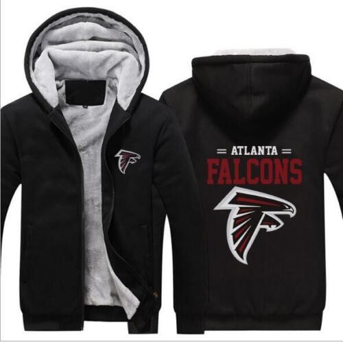 Thick Hoodie Atlanta Falcons Printed Long Sleeve Zipper Hat Hoode M-6XL 4 Style
