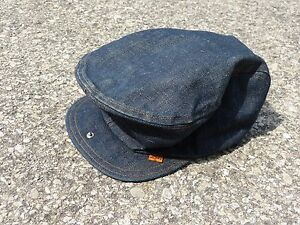 Image is loading Vintage-Levi-039-s-Denim-Hat-Newsboy-LEVIS- 10e24405f06