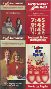 Southwest-Airlines-timetable-lot-4-1982-1985