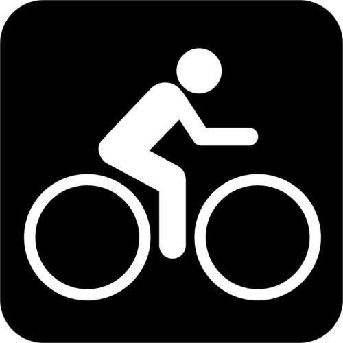 Bicycle International Symbol Vinyl Decal Sticker Car Window Wall Printed
