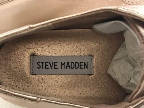 Steve Madden 5.5 m Or Rose Pom Pom Breeze PLATFORM Sneaker NEUF sans boîte
