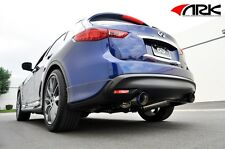 09-15 FX35 / FX37 / QX70 ARK Performance GRiP Exhaust System with Burnt Tips