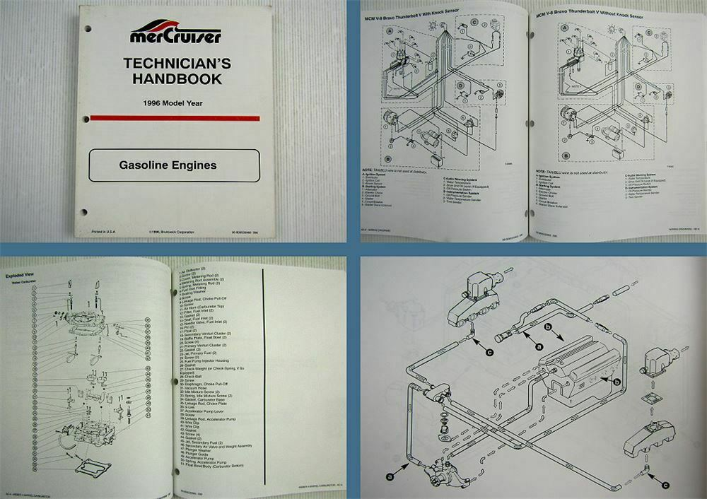 Mercruiser Gasoline Engines Model Year 1996 Technicians Handbook