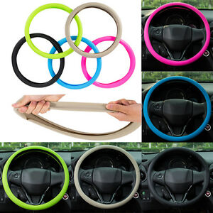 car steering wheel cover food grade silicone for 36 40cm auto