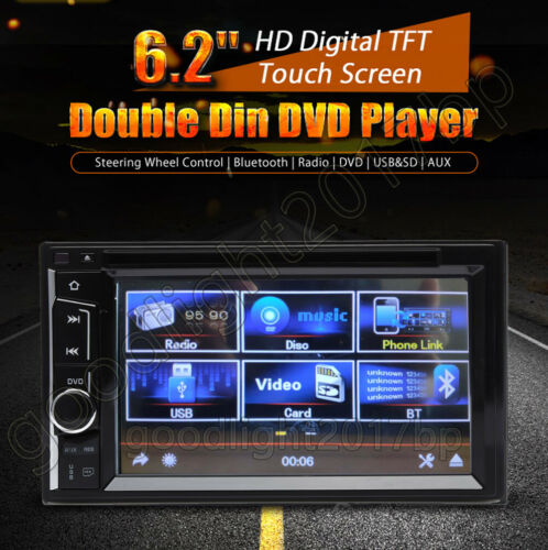 """Double Din Car Stereo Audio Radio TouchScreen Camera 6.2/"""" For Ford F-150 250 350"""