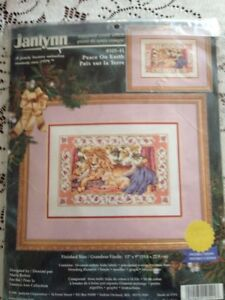 RARE Peace on Earth counted X stitch kit, Janlynn #105-41 sealed
