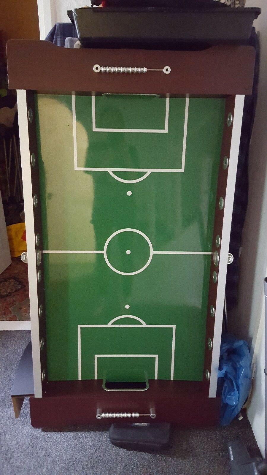 Solid wooden Football Table excellent condition. H 35 inches, W 30inches, L...