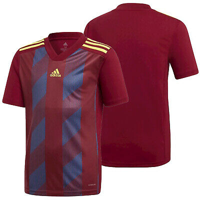 Adidas Striped 19 Soccer Jersey Burgundy / Navy / Yellow Youth Team Apparel NEW | eBay