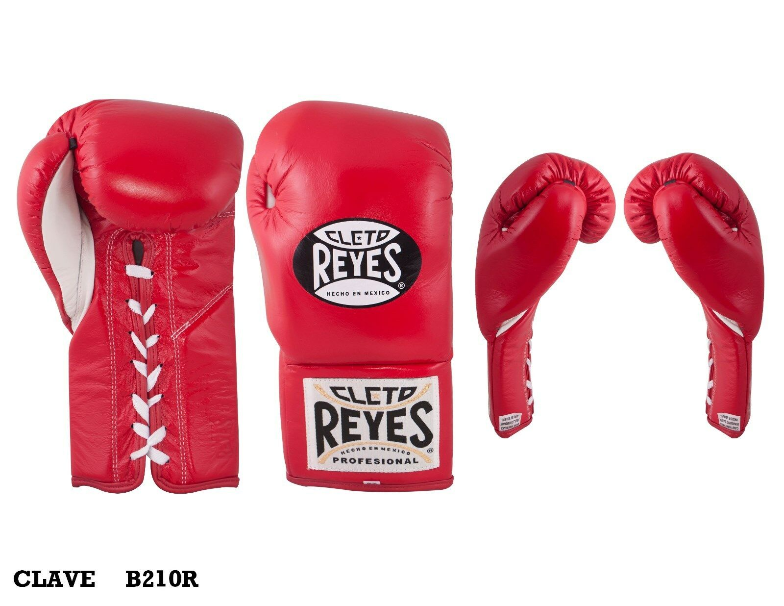 Authentic gloves Cleto Reyes ROT Leder traditional 10oz contest gloves Authentic d17d6b