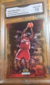 2003 Upper Deck LeBron James Freshman Season Rookie #5 Gem Mint GMA 10 Rare rc